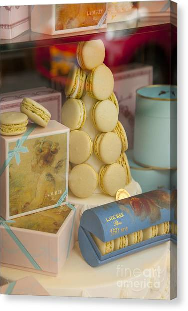 Sweet Tea Canvas Print - Laduree Macarons by Brian Jannsen