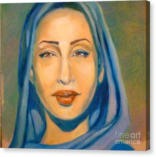 Lady Blue Sade Canvas Print by Jose Breaux