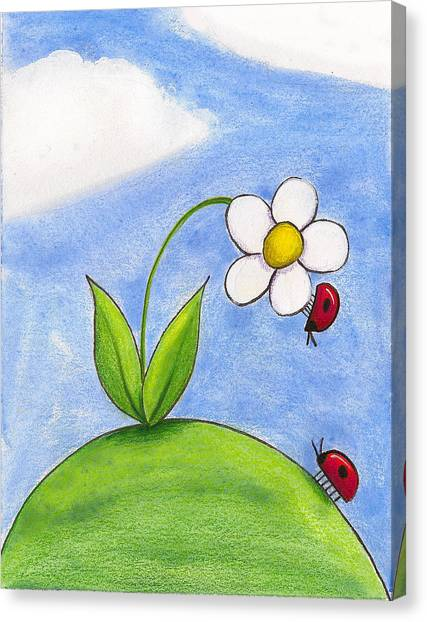 Lady Bug Love Canvas Print by Christy Beckwith