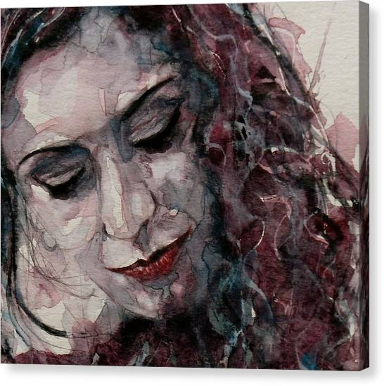 Lips Canvas Print - Lady D'arbanville by Paul Lovering