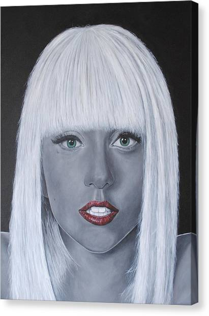 Lady Gaga 'poker Face' Canvas Print