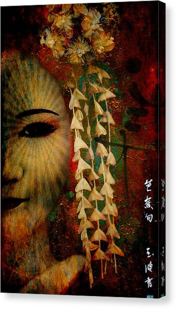 Lady Geisha Canvas Print
