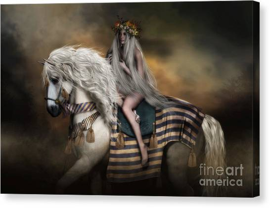Tax Canvas Print - Lady Godiva by Shanina Conway