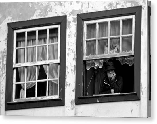 Lady In The Window II Canvas Print by Dave Dos Santos