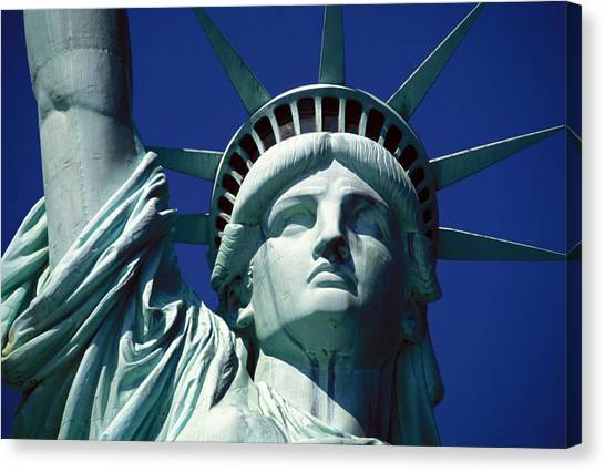Statue Canvas Print - Lady Liberty by Jon Neidert