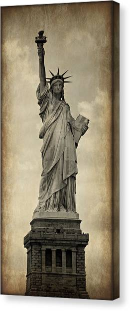Immigration Canvas Print - Lady Liberty No 11 by Stephen Stookey