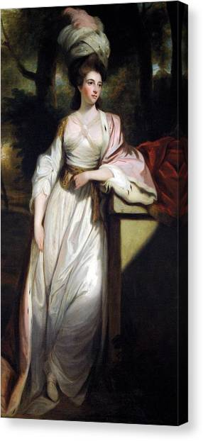 Rutland Canvas Print - Lady Mary Isabella Somerset by Robert Smirke