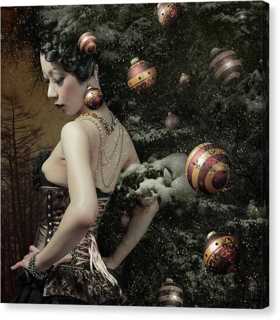 Necklace Canvas Print - Lady Of December\'s Tree by Kiyo Murakami