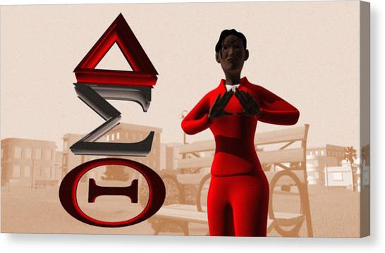 Delta Sigma Theta Canvas Print - Lady Of Dst by James Bowman