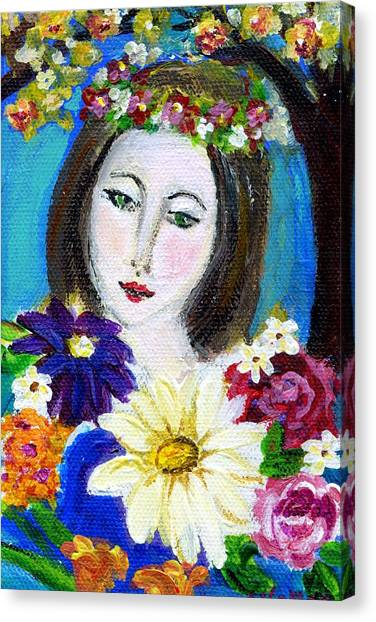 Lady Of Spring Canvas Print
