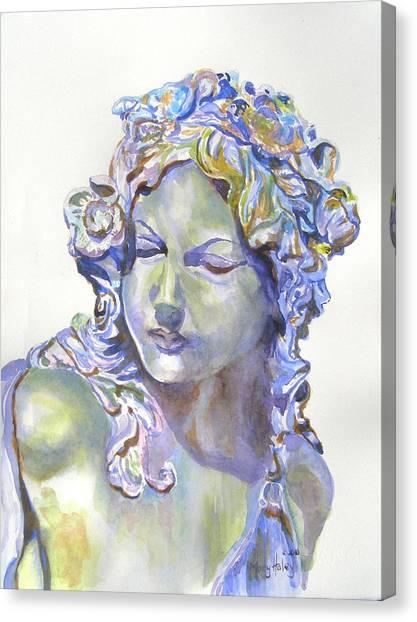 Lady Of Stone Canvas Print