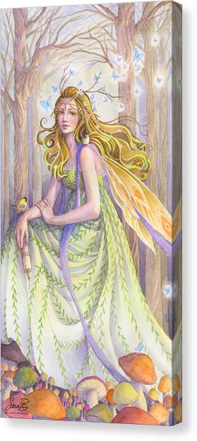 Celtic Art Canvas Print - Lady Of The Forest by Sara Burrier