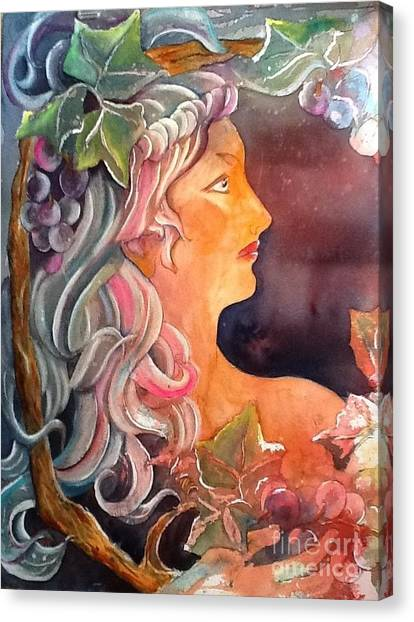 Lady Of The Grapes Canvas Print