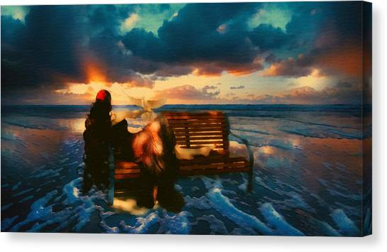 Lady Of The Ocean Canvas Print