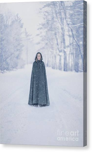 Whimsical Canvas Print - Lady Of The Winter Forest by Evelina Kremsdorf