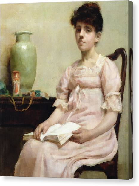 Sick Canvas Print - Lady Reading by Fanny Caille