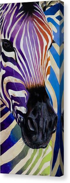 Lady Stripes Canvas Print