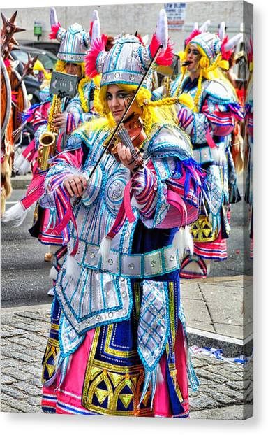 Lady Viking Mummer Canvas Print