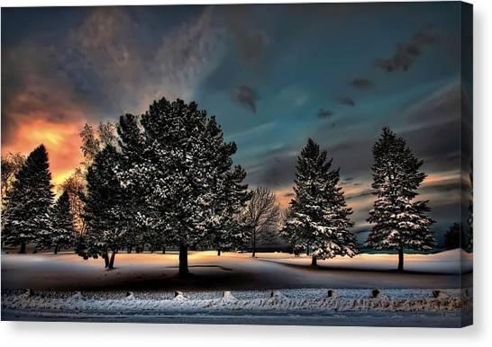 Lady Winter  Bringing A Cold Snap Canvas Print