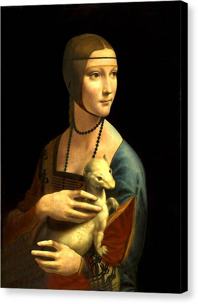 Lady With The Ermine Reproduction Canvas Print