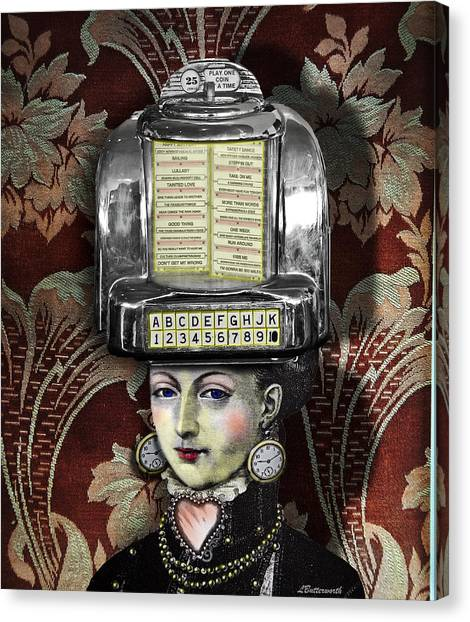 Lady Wurlitzer Canvas Print by Larry Butterworth