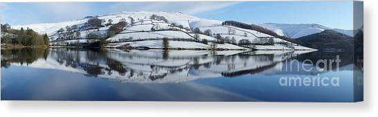 Ladybower Winter Panorama Canvas Print