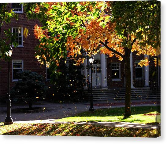Lafayette College Easton Pa In Autumn Canvas Print by Jacqueline M Lewis