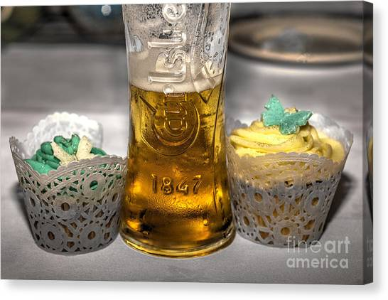 Pint Glass Canvas Print - Lager Cake  by Rob Hawkins