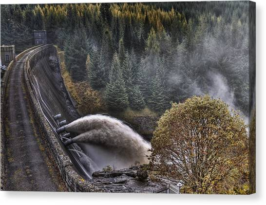 Laggan Dam Canvas Print