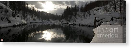 Lago Delle Streghe Canvas Print by Marco Affini