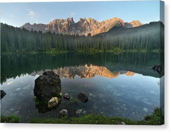 Lago Di Carezza Canvas Print