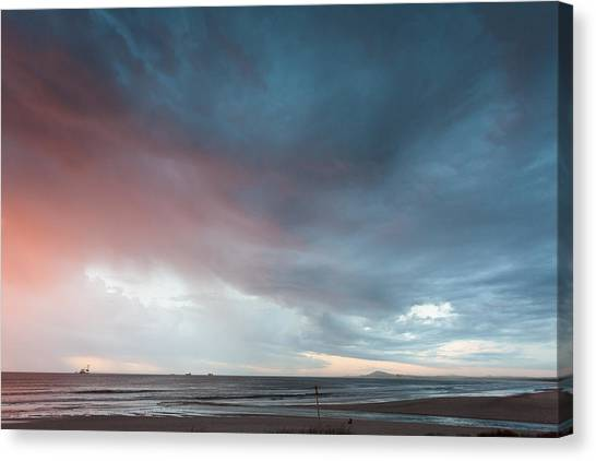 Lagoon Mouth Sunset Canvas Print
