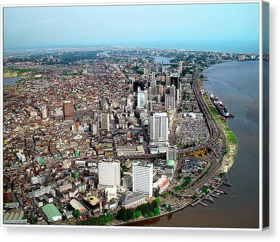 Lagos Canvas Print by Alex Bartel/science Photo Library