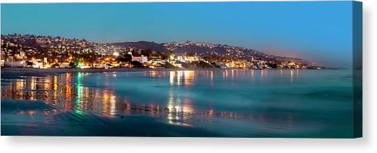 Laguna Beach Twilight Reflections Canvas Print