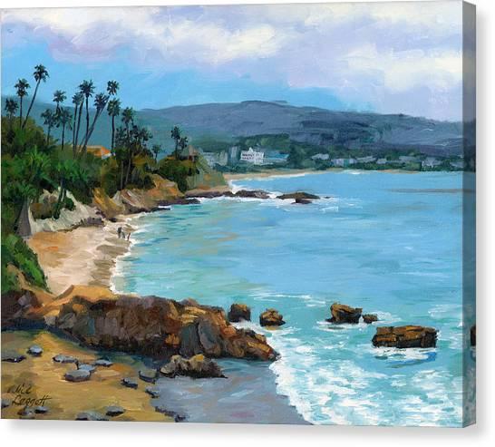 Laguna Beach Winter Canvas Print