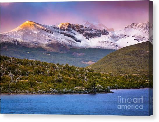 Andes Mountains Canvas Print - Laguna Capri Sunrise by Inge Johnsson