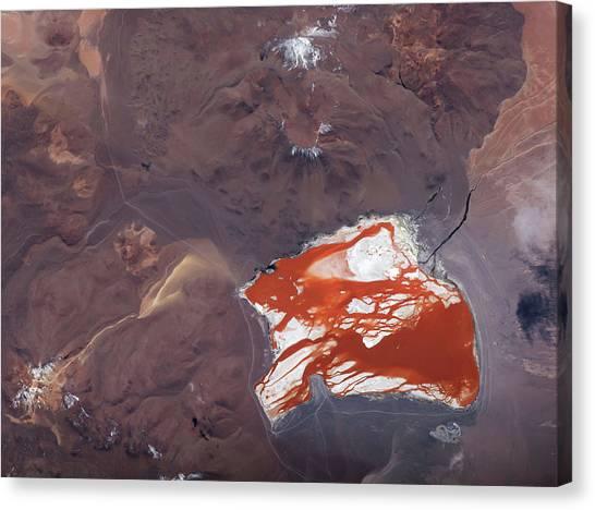 Andes Mountains Canvas Print - Laguna Colorada by Nasa