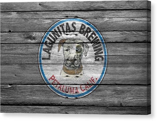 Beer Can Canvas Print - Lagunitas Brewing by Joe Hamilton