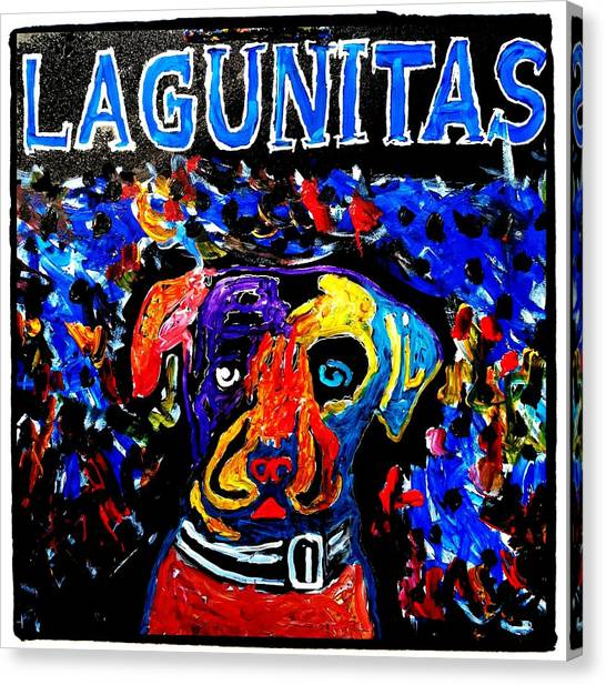 Lagunitas Dog Canvas Print