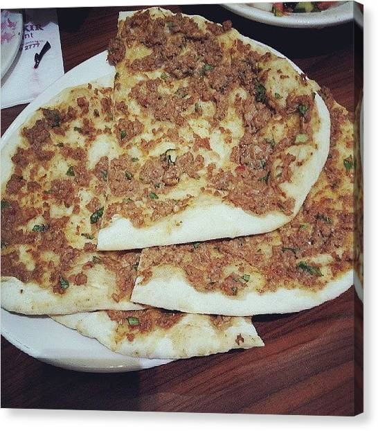 Turkish Canvas Print - Lahmacun. Foodfest With @mejjy89 by Mohsen Khan   Alexander Pathan Yusufzai