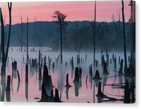 Lake @ Morning #2 Canvas Print by ??? / Austin
