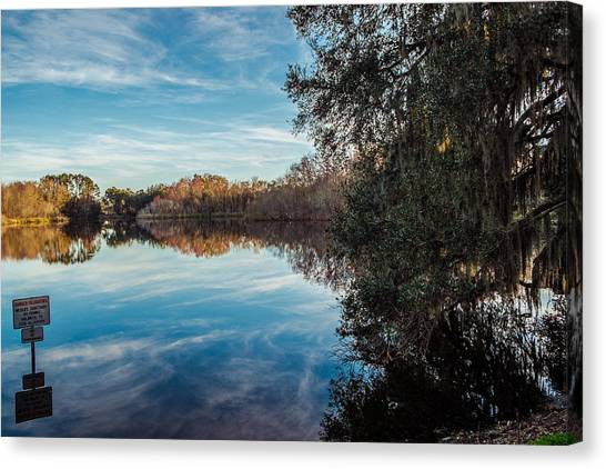 University Of Florida Canvas Print - Lake Alice by Louis Ferreira