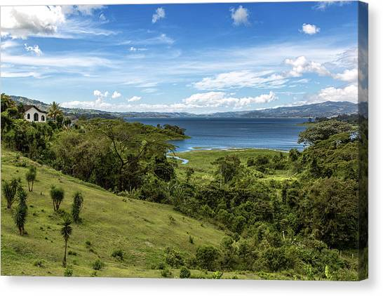 Arenal Volcano Canvas Print - Lake Arenal View In Costa Rica by Andres Leon