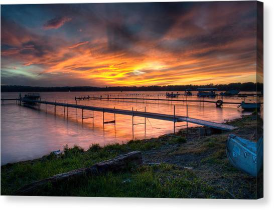 Lake At Sunset Canvas Print