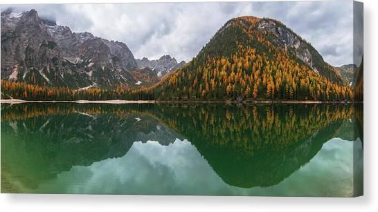 Dolomites Canvas Print - Lake Braies by Ales Krivec