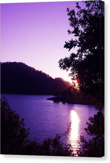 Lake Chabot On A Summer Eve Canvas Print