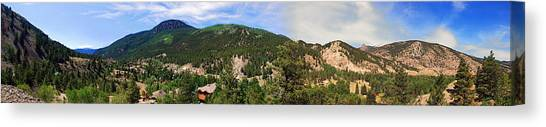 Lake City Colorado Mountain Range Canvas Print
