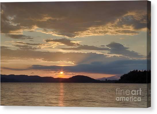 Lake Coeur D Alene Canvas Print