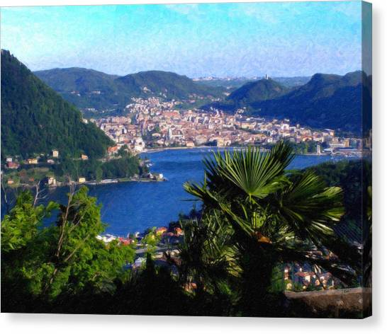Lake Como Itl7724 Canvas Print