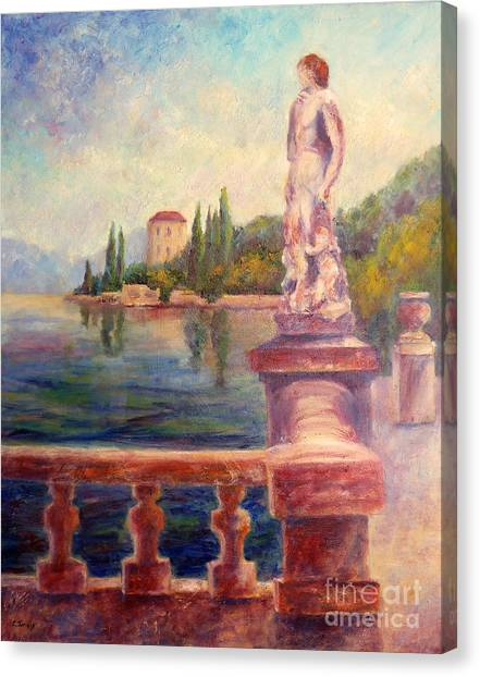 Lake Como View Canvas Print
